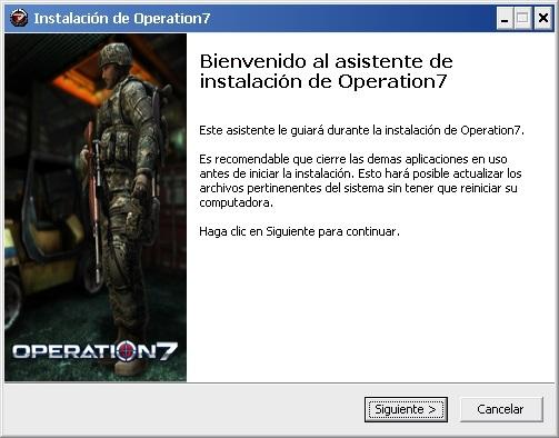 Imagen del instalador de Operation7, el juego de tiros en primera persona con más usuarios de lationoamérica