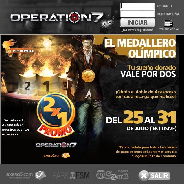 Launcher de Operation7, el juego de tiros en primera persona con más usuarios de lationoamérica